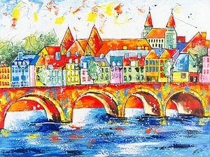 Skyline Maastricht van Artflow Schilderijen