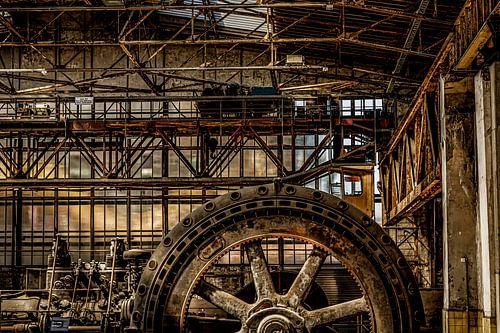 verlaten en verroeste machinerie