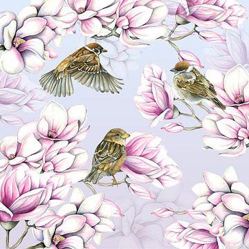 Magnolia spring van Geertje Burgers