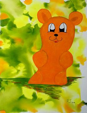 oranger Gummibärenbruder van Patricia Jaqueline