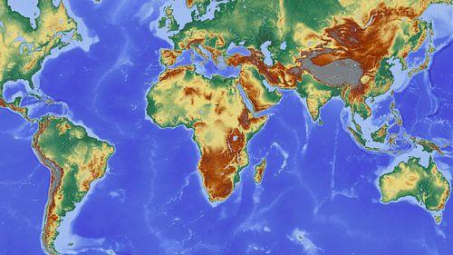 Wereldkaart in al zijn kleuren