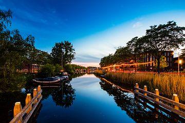 Zonsondergang Piushaven Tilburg van
