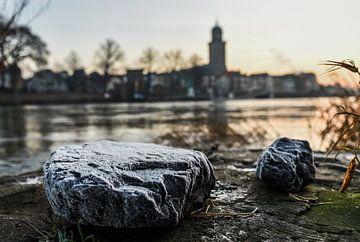 Bevroren stenen op de krib van Arjan Penning