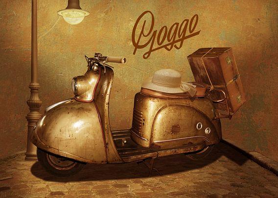 Goggo-scooter uit de jaren 50 van Monika Jüngling