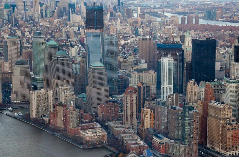 New York Luchtfoto van Guido Akster