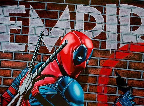 Deadpool Schilderij van Paul Meijering