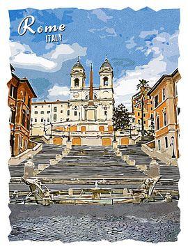 Rome van Printed Artings