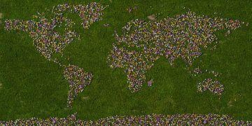 Weltkarte Krokusse von Frans Blok