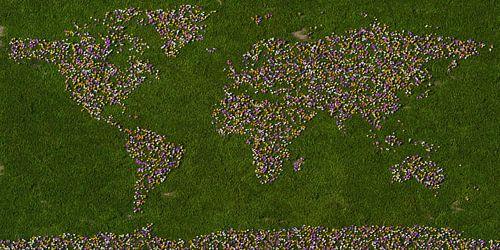 Wereldkaart krokussen