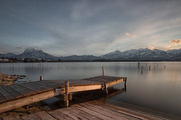 Steg bei Abendsonne von Andreas Stach