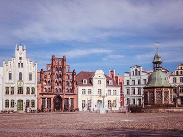 Huizen van de oude binnenstad van Wismar van Animaflora PicsStock