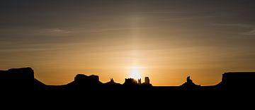 Strahlender Sonnenaufgang von Peter Leenen