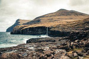Eidi Waterval op de Faeröer Eilanden