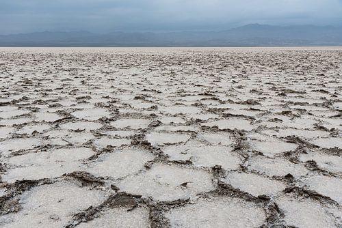 Abstract zout landschap in de Danakil woestijn | Ethiopië