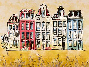 Les maisons d'Amsterdam sur Arjen Roos