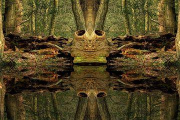 Baum im Wald van Peter Roder