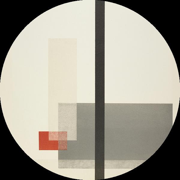 Bauhaus, Samenstelling uit de masterportfolio van het Staatliches Bauhaus - László Moholy-Nagy, 1923 van Atelier Liesjes