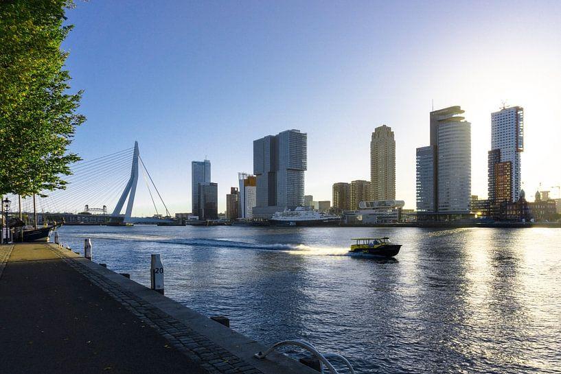 Rotterdam | Watertaxi en Skyline Wilhelminapier van Ricardo Bouman | Fotografie