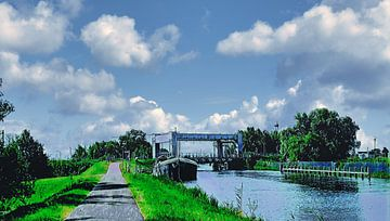 Eisenbahn-Hubbrücke Heerhugowaard von Digital Art Nederland
