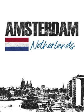 Amsterdam Nederland van Printed Artings