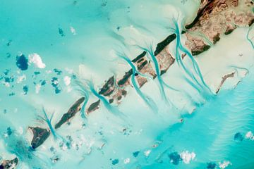 Bahamas Great Exuma Island, foto vanuit de ruimte van