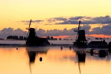 Sonnenaufgang @ Zaanse Schans von Kurt Vanvelk