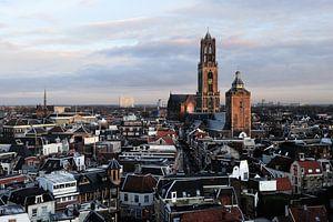 De binnenstad van Utrecht met de Domtoren