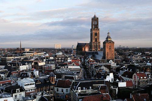 De binnenstad van Utrecht met de Domtoren von Merijn van der Vliet