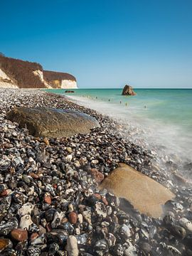 Kreidefelsen an der Küste der Ostsee auf der Insel Rügen von Rico Ködder