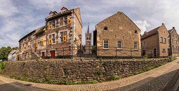 Oude dorpskern  Op de Berg in Elsloo met Sint-Augustinuskerk van