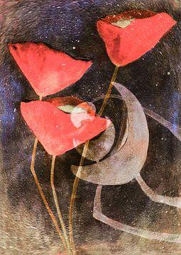 Mohn  - Abstraktion von Christine Nöhmeier