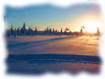 Arktischer Winter-Sonnenuntergang von Maurice Dawson
