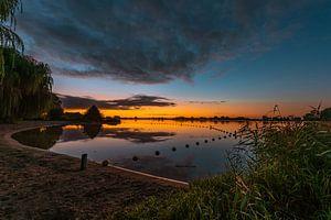 Lever du soleil sur le lac Binnenmaas