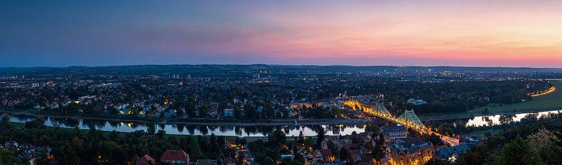 Dresde - Loschwitz au coucher du soleil sur Frank Herrmann