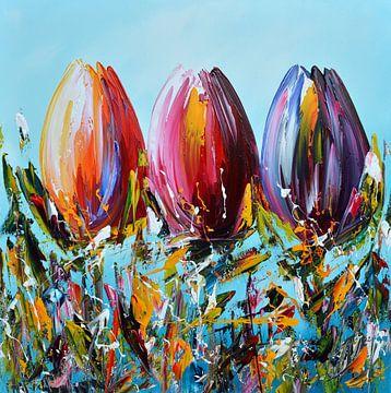 Tulips sur Gena Theheartofart