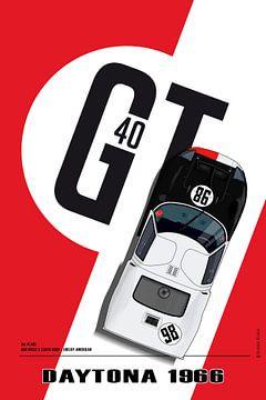 Daytona 1966, GT40, Ken Miles, Lloyd  Ruby von Theodor Decker