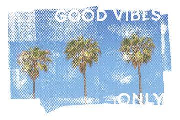 Vintage Palmen alleen goede vibraties van Melanie Viola