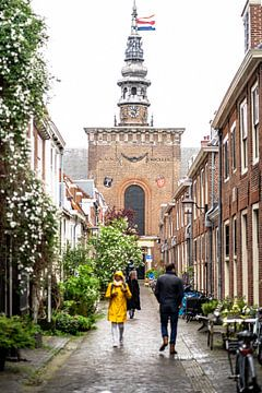 Nieuwe kerk Haarlem, aanblik vanuit de Kerkstraat/Grote Houtstraat von Jeroen Somers