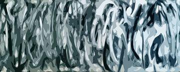Composition abstraite 671 sur Angel Estevez