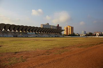 Sonnenuntergang in Havanna im Stadion von Jose Marti in Havanna. Kuba von Tjeerd Kruse