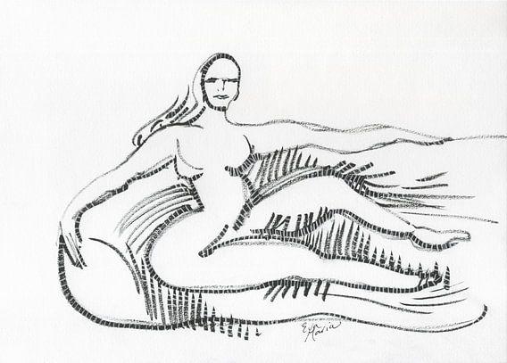 Vrouw op sofa