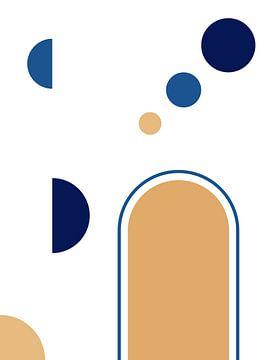 Kleurrijke Geometrische en Abstracte Print van MDRN HOME
