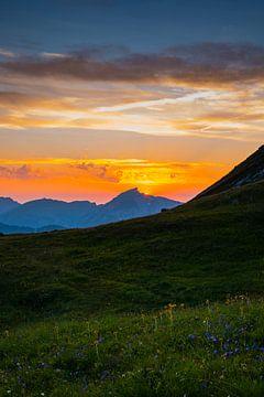 Zonsondergang, Hoher Ifen van