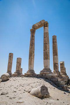 Zuilen Citadel Amman Jordanië van