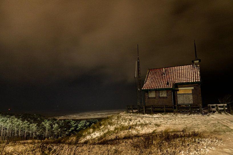 Uitzicht over de Waddenzee en het seinhuisje van Marjolein van Roosmalen