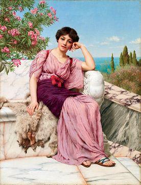 John William Godward, Süße Träume - 1904 von Atelier Liesjes