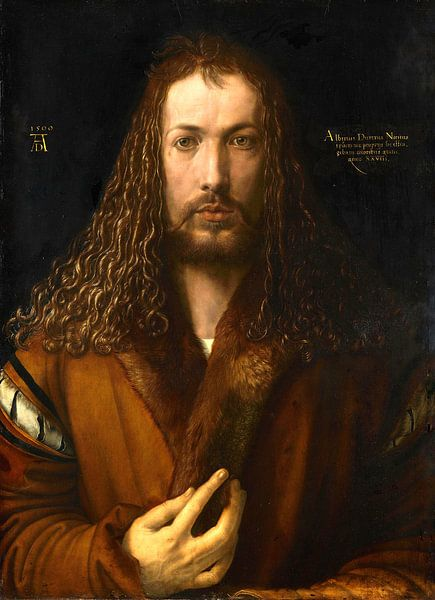 Albrecht Dürer.Selbstbildnis wie Christus von 1000 Schilderijen