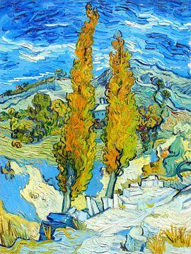 Cipressen in Saint-Rémy - Vincent van Gogh - 1889