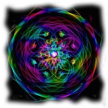 Psychedelische abstract van Maurice Dawson