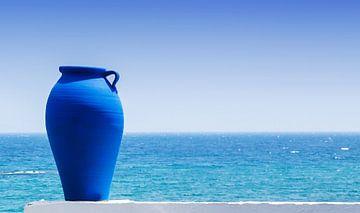 Blauwe amfoor